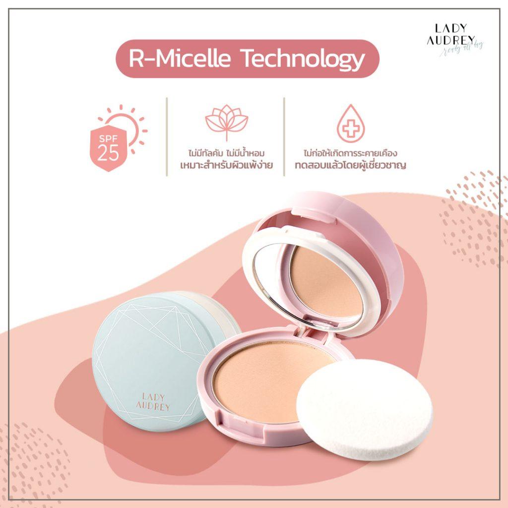 แป้งคุมมัน R-Micelle Technology